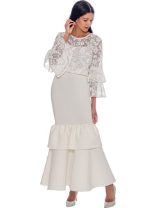 Rose Collection RC305X White Blouse – Church, Wedding, Holiday, Special Occasion