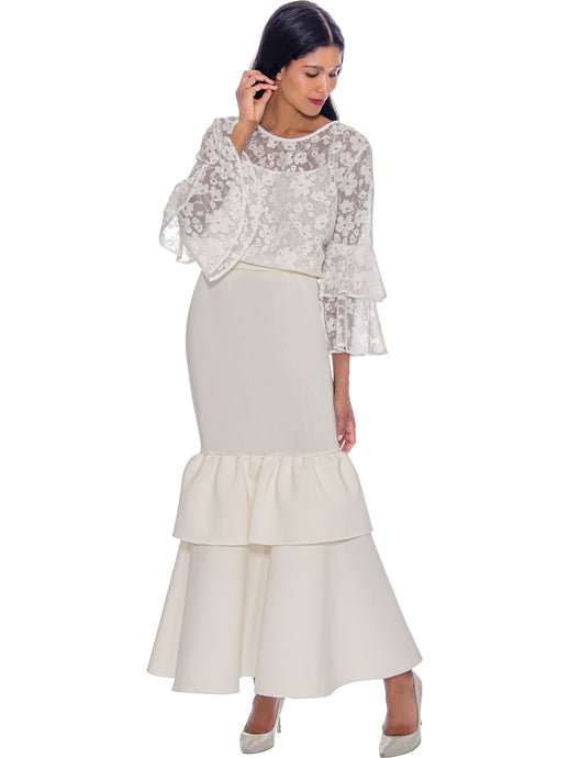 Rose Collection RC305 White Blouse – Church, Wedding, Holiday, Special Occasion