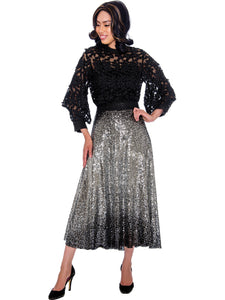 Rose Collection RC570X Silver Skirt – Church, Wedding, Holiday, Special Occasion