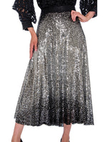 Rose Collection RC570 Silver Skirt – Church, Wedding, Holiday, Special Occasion