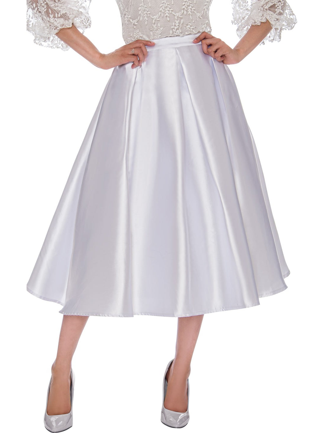 Rose Collection RC585 White Skirt – Church, Wedding, Holiday, Special Occasion