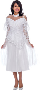 Rose Collection RC605 White Blouse – Church, Wedding, Holiday, Special Occasion
