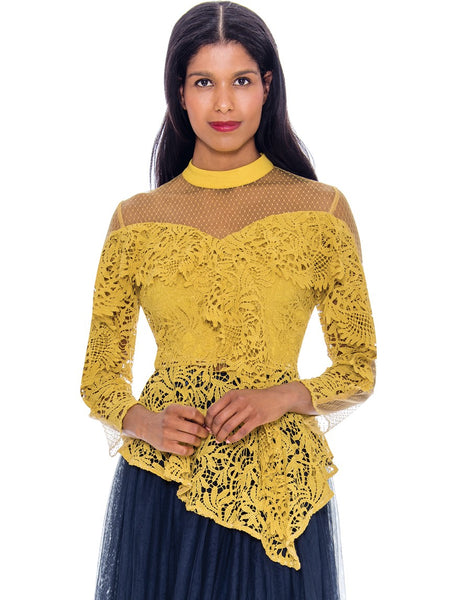 Rose Collection RC605 Gold Blouse – Church, Wedding, Holiday, Special Occasion