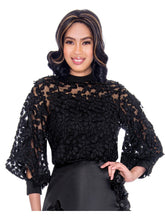 Rose Collection RC625 Black Blouse – Church, Wedding, Holiday, Special Occasion