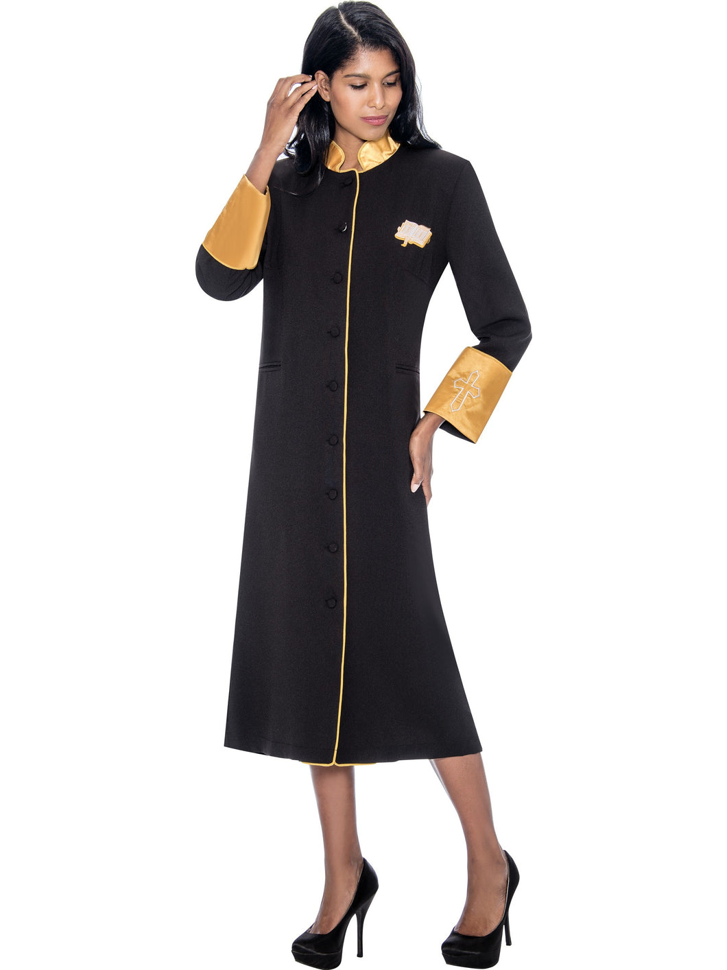 Black Church Robe for Clergy, Pastors, Priests, Choir, Groups