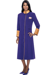 Purple Church Robe for Clergy, Pastors, Priests, Choir, Groups