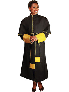 Black Unisex Papal Robe for Church, Clergy, Pastors, Priests