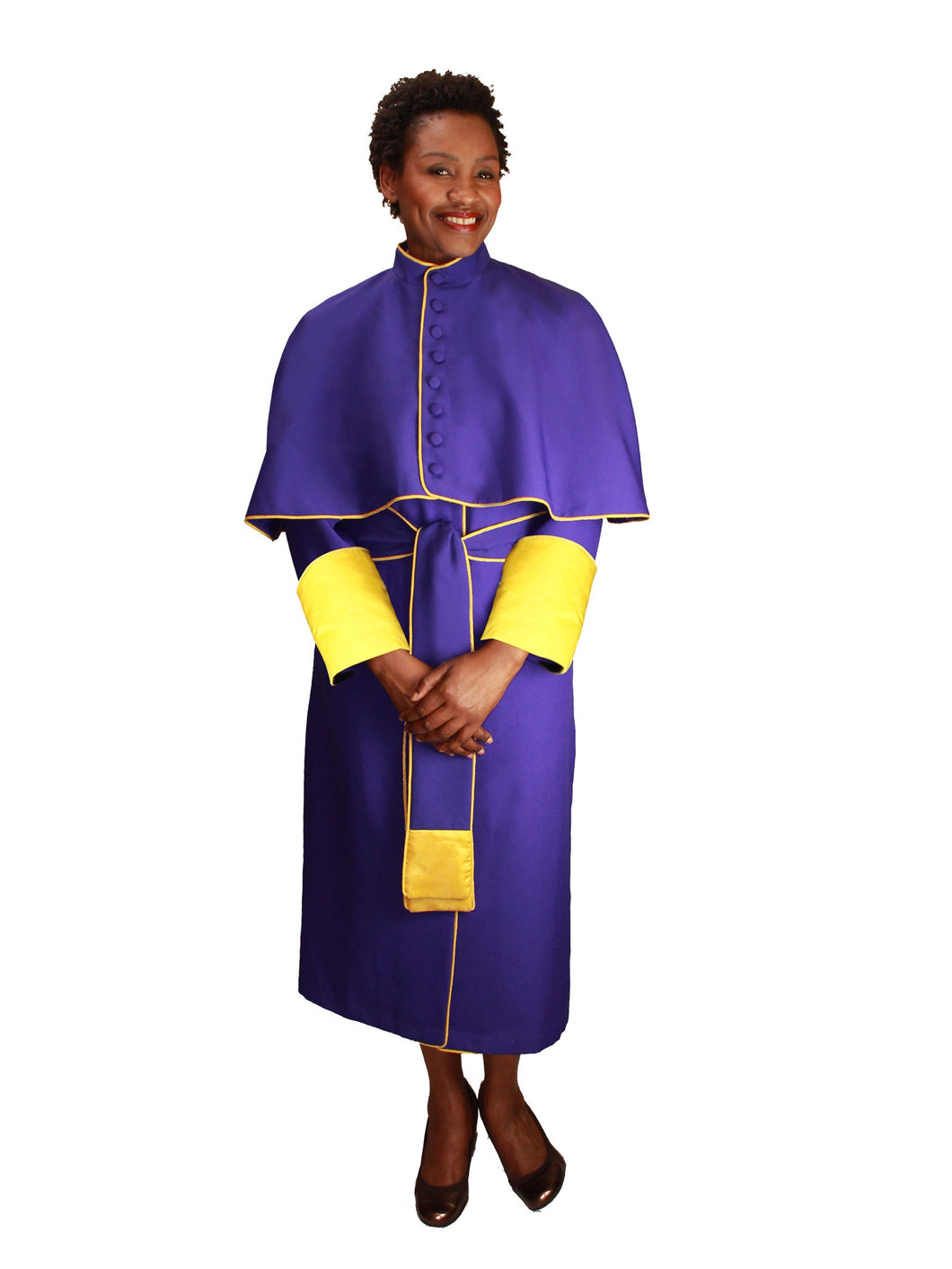 Purple Unisex Papal Robe for Church, Clergy, Pastors, Priests