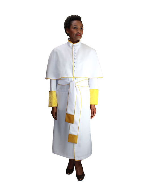 White Unisex Papal Robe for Church, Clergy, Pastors, Priests