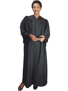 Black Unisex Robe for Church, Choir, Clergy, Pastors, Priests, Groups