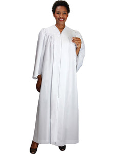 White Unisex Robe for Church, Choir, Clergy, Pastors, Priests, Groups
