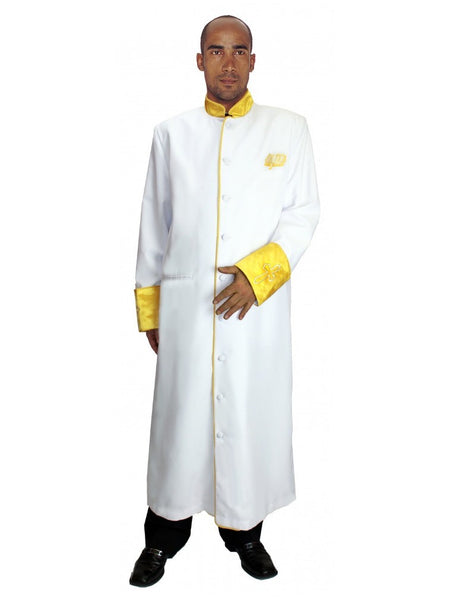 White Men's Cassock Robe for Church, Choir, Clergy, Pastors, Priests, Groups