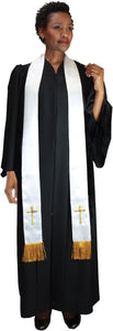 Unisex Robe and Stole for Church, Clergy, Choir, Pastors, Priests, Groups