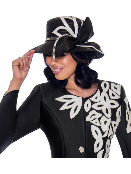 Black/White Hat, Church Suit, Special Occasion Skirt Suit, Mother of the Bride
