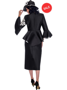 Black/White Skirt Suit, Church Suit, Special Occasion Suit, Mother of the Bride