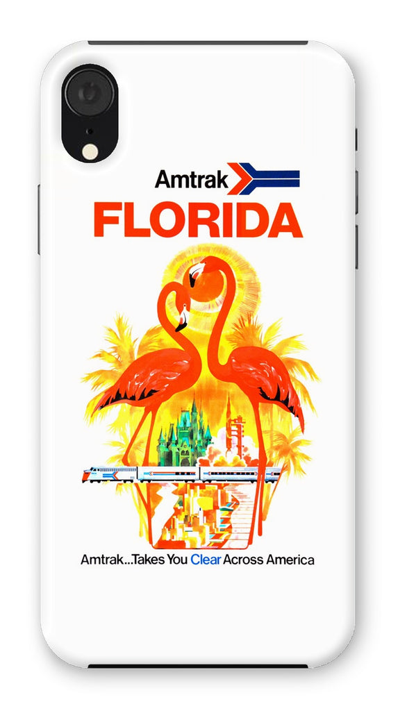 Florida Amtrak Poster Phone Case