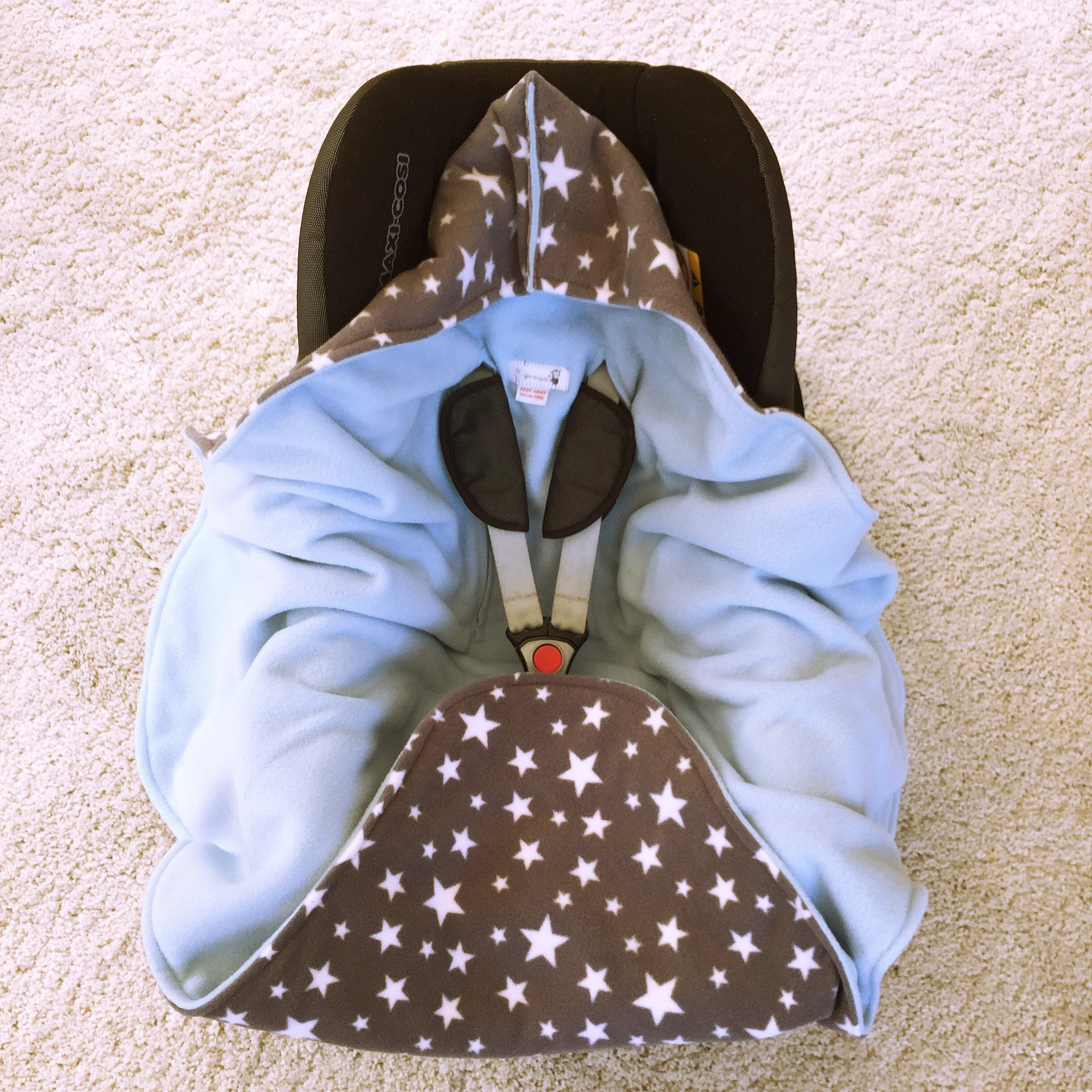 Cotton car seat blanket