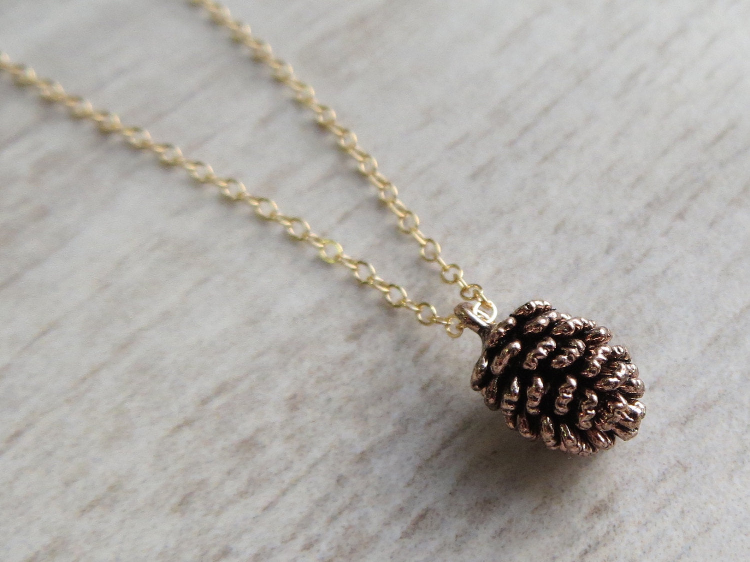 Tiny Pine Cone Necklace