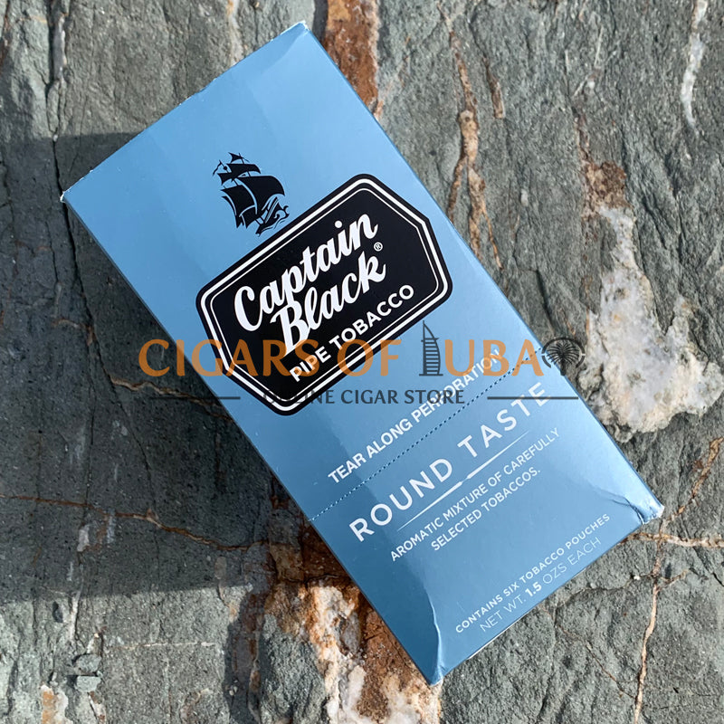 Captain Black Round Taste Pipe Tobacco - Cigars of Dubai