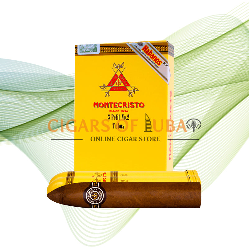 Montecristo Petit No.2 Tubos (5x3 Packs) - Cigars of Dubai