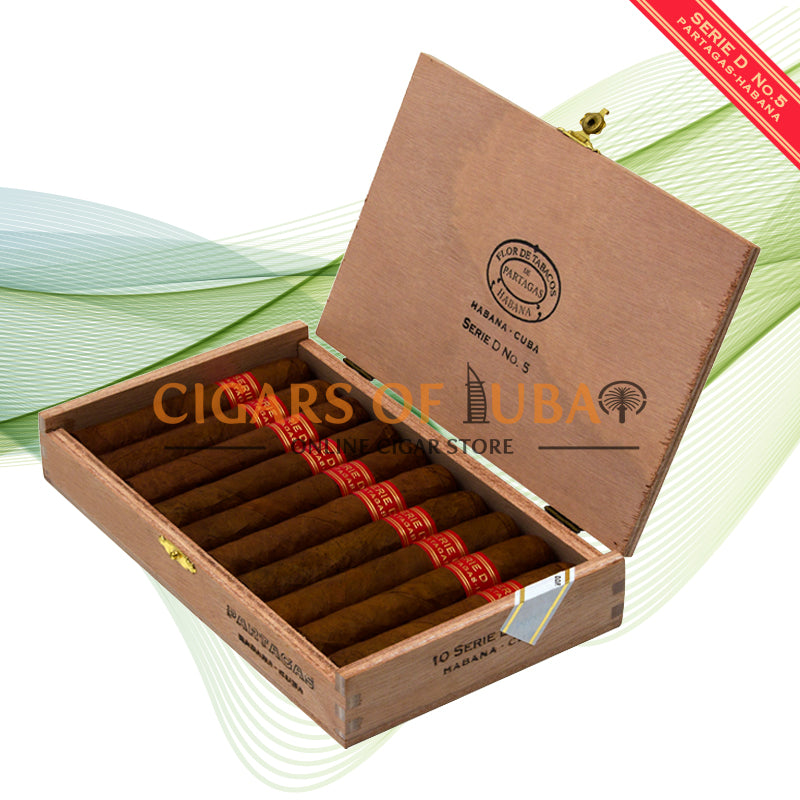Partagas Serie D No. 5 (Box of 10) - Cigars of Dubai