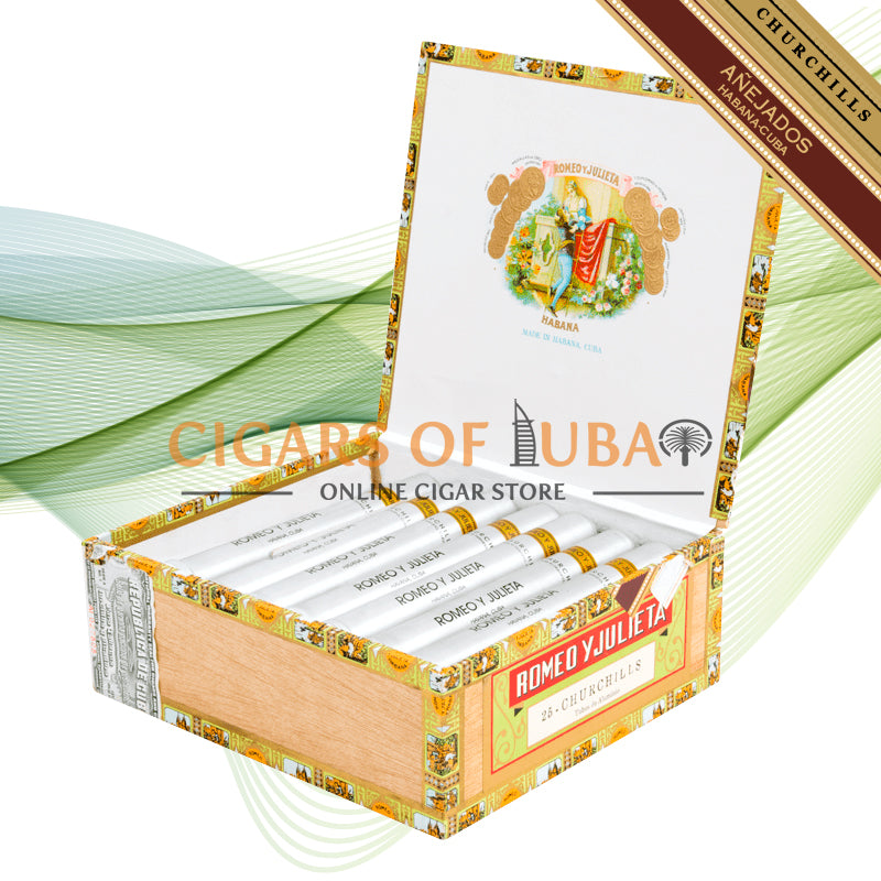 Romeo y Julieta Churchills Añejados Tubo - Cigars of Dubai