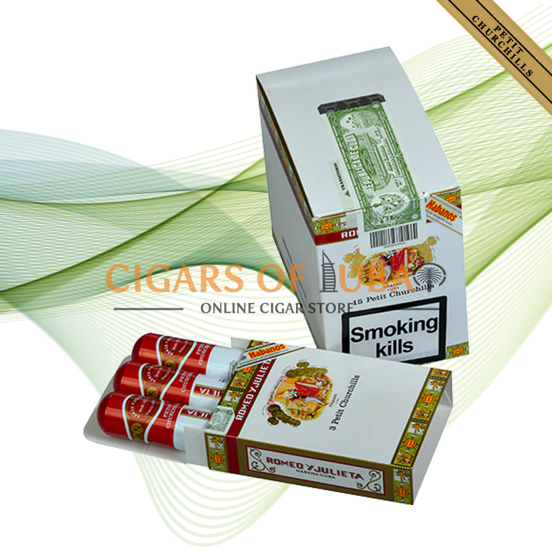 Romeo y Julieta Petit Churchills Tubos (5x3 Packs) - Cigars of Dubai