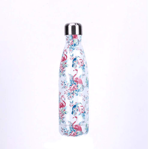 Gourde isotherme 500 ML PERSONNALISABLE (Motif Flamants roses 1)