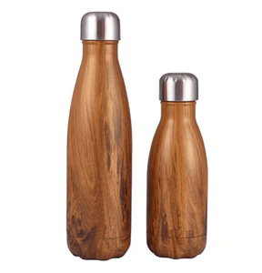 Gourde isotherme 500 ML PERSONNALISABLE (Wood 1)