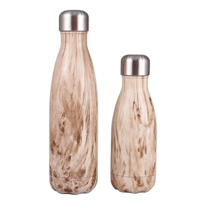 Gourde isotherme 500 ML PERSONNALISABLE (Wood 2)