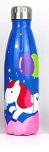 Gourde isotherme 500 ML PERSONNALISABLE (Motif Licorne 3)