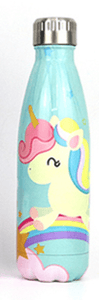 Gourde isotherme 500 ML PERSONNALISABLE (Motif Licorne 2)