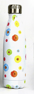 Gourde isotherme 500 ML PERSONNALISABLE (Motif Color Flower)