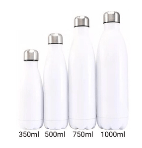 Gourde isotherme 350 / 500 / 750 / 1000 ML PERSONNALISABLE (Bright White)