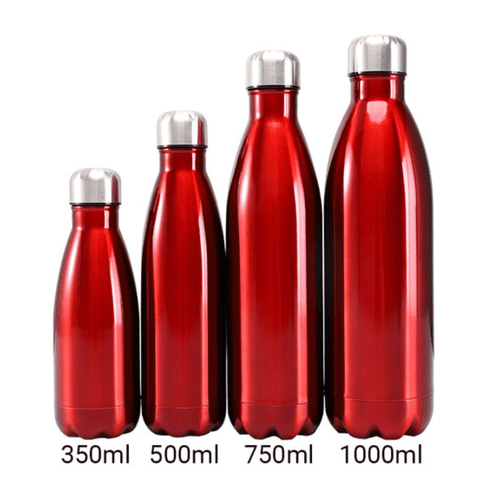 Gourde isotherme 350 / 500 / 750 / 1000 ML PERSONNALISABLE (Bright Red)