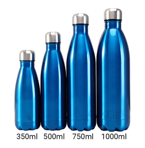 Gourde isotherme 350 / 500 / 750 / 1000 ML PERSONNALISABLE (Bright Blue)
