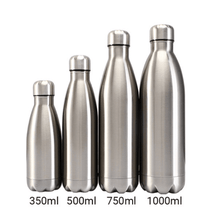 Charger l'image dans la galerie, Gourde isotherme 350 / 500 / 750 / 1000 ML PERSONNALISABLE (Bright Silver)