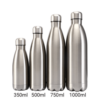 Gourde isotherme 350 / 500 / 750 / 1000 ML PERSONNALISABLE (Bright Silver)