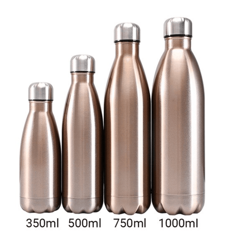 Gourde isotherme 350 / 500 / 750 / 1000 ML PERSONNALISABLE (Bright Champagne)