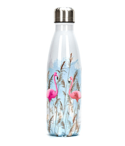 Gourde isotherme 500 ML PERSONNALISABLE (Motif Flamants roses 3)