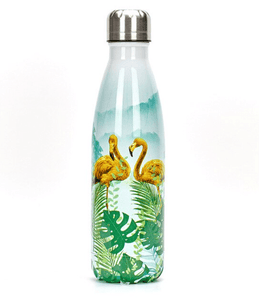 Gourde isotherme 500 ML PERSONNALISABLE (Motif Flamants roses 4)
