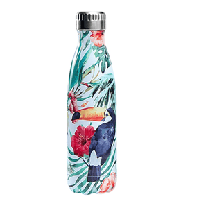 Gourde isotherme 500 ML PERSONNALISABLE (Motif Toucan 1)