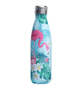 Gourde isotherme 500 ML PERSONNALISABLE (Motif Grand flamant rose 4)