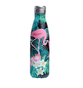 Gourde isotherme 500 ML PERSONNALISABLE (Motif Grand flamant rose 5)