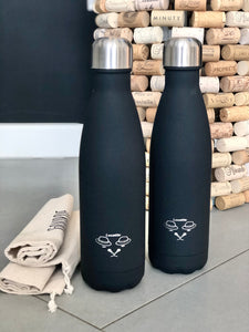 Gourde isotherme 500 ML PERSONNALISABLE (Soft Black)