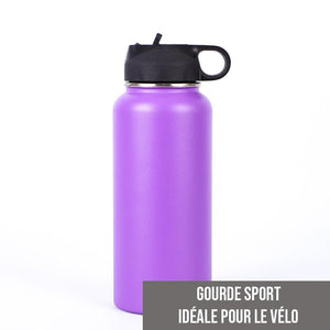 Gourde isotherme Sport 500 ML PERSONNALISABLE (Violet)