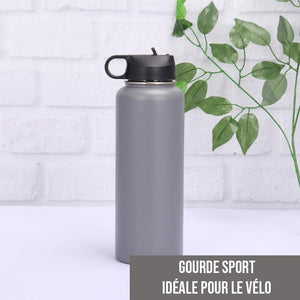 Gourde isotherme Sport 500 ML PERSONNALISABLE (Gris)
