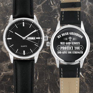 To My Grandson - Engraved Watch