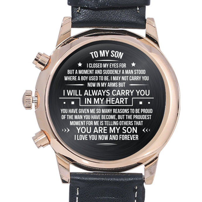To My Son - Engraved Watch