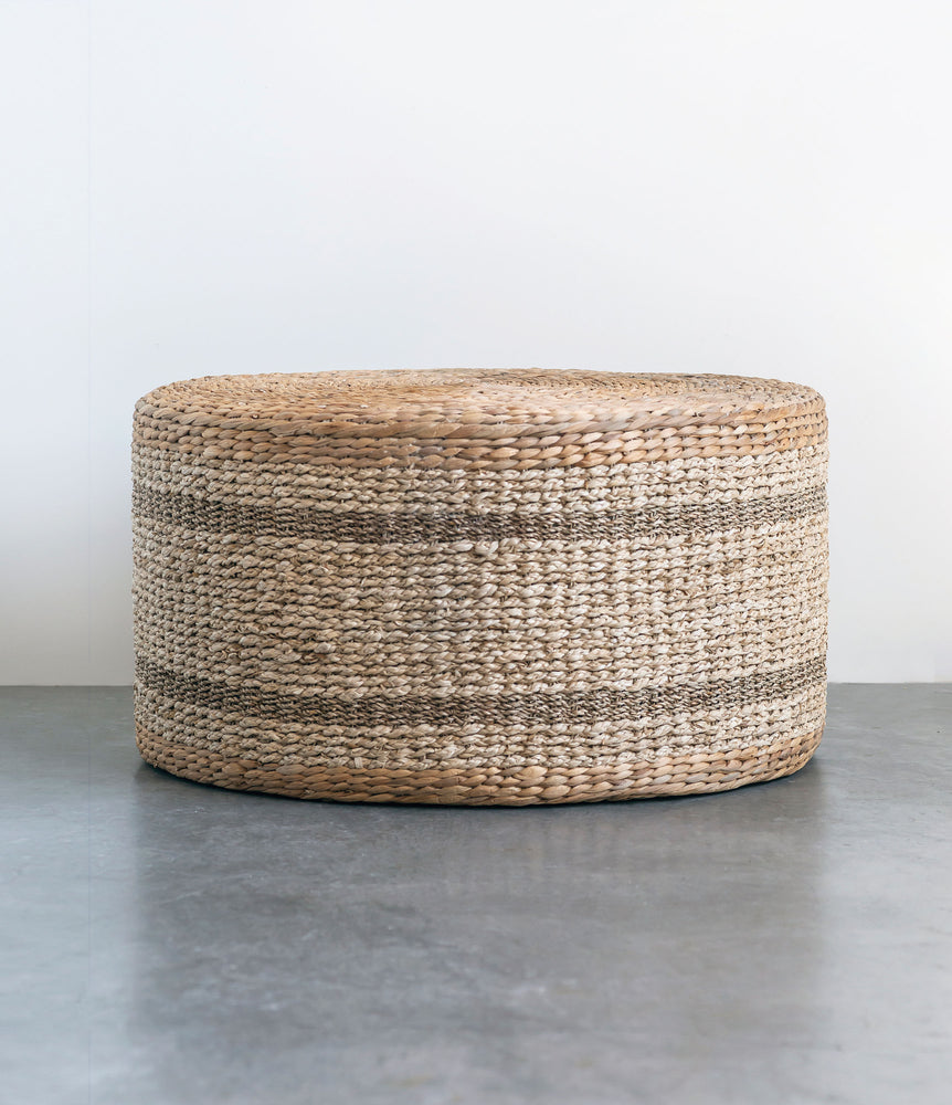 Load image into Gallery viewer, Hyacinth & Seagrass Ottoman/Table